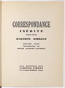 Correspondance inédite (1870-1875) d'Arthur Rimbaud / précédée d'une introduction de Roger Gilbert-Lecomte