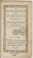 La Dieromene ou Le repentir d'amour pastorale. Imitee de l'Italien de L. G. C. D. H. Par R. B. G. T.