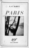 Paris (notes d'un Vaudois) / C.-F. Ramuz