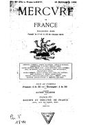 Mercure de France : série moderne / directeur Alfred Vallette