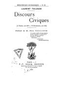 Discours civiques : (4 nivôse, an 109 - 19 brumaire, an 110) / Laurent Tailhade ; portr. de M. Félix Valloton