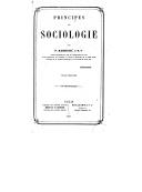 Principes de sociologie. 1 / par F. Barrier,...