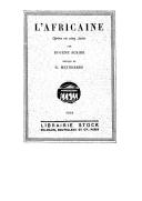 L'africaine : opéra en 5 actes / par Eugène Scribe ; musique de Meyerbeer