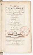 Liste des cartes, livres et autres oeuvres de geographie que P. Du-Val geographe ordinaire du Roy a faits & que l'on distribue chez luy, avec privilege de Sa Majesté.