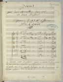 Pieces // pour deux clarinettes, deux cors, // et deux Bassons // pour S. A. S. M.gr le Prince // De Condé (manuscrit autographe)