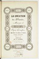 La Création du monde. Musique de Haydn. Opéra complet. Partition de piano et chant. Paroles françaises [de M. le Comte de Ségur] (Edition de luxe)