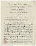 Nouvelle Romance. Avec accompagnement de piano ou harpe et violon ou flûte ad libitum.. Musique de Gresnick...