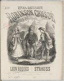 """Polka brillante sur """"Robinson Crusoë"""" de J. Offenbach, composée et arrangée pour piano par Léon Roques..."""