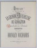 Dites-lui. La Déclaration de la grande Duchesse de gerolstein, opéra-bouffe de J. Offenbach, transcription pour le piano