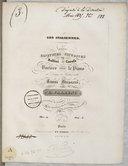 Les Italiennes, trois cavatines favorites de Bellini et Carafa, variées pour le piano, op. 14