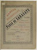 Danses Espagnoles pour violon avec accompt. de piano par Pablo de Sarasate, édition originale, en trois cahiers