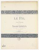 Le Nil : n°3 mi mineur (ton original) / musique de Xavier Leroux ; poésie d'Armand Renaud ; à Madame C. Salla-Uhring