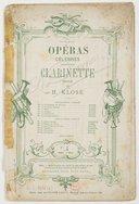 Opéras célèbres. 4, Norma / opéra de Bellini ; pour clarinette seule par H. Klosé