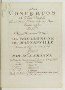Deux Concertos à violon principal, premier et second violons, alto et basse, hautbois et cors... opera V