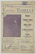 Cinq nouveaux succès de Enrico Toselli. , Primavera nuova : mélodie / paroles françaises de Georges Villard ; musique de Enrico Toselli