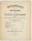 Ouverturen und andere Orchesterwerke. 2, Ouverture in D dur : [Deutsch 26] / von Franz Schubert ; bearb. für Pianoforte zu zwei Händen von F. B. Busoni