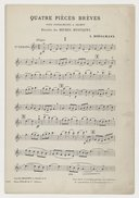 Quatre pièces brèves, pour instruments à archet, extraites des Heures mystiques de Léon Boelmann. Parties d'orchestre