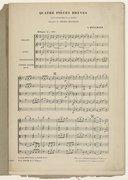 """Quatre Pièces brèves pour instruments à archet, extraites des """"Heures mystiques"""" de Léon Boëllmann. Partition d'orchestre"""