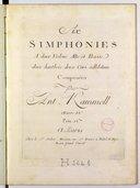 Six Simphonies à deux violons, alto et basse, deux hautbois, deux cors ad libitum... Oeuvre 18