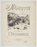 La Maladetta, ballet de Paul Vidal. Valse pour piano par F. Desgranges