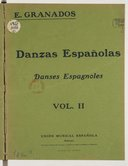 Danzas españolas, danses espagnoles, pour piano. Vol. I. Vol. II. Vol. III. Vol. IV.