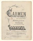 Carmen, opéra de Georges Bizet. Fantaisie de concert pour violon avec accompagnement de piano par Sarasate, op. 25