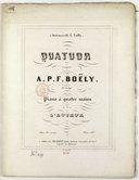 Quatuor... arrangé pour piano à quatre mains par l'auteur... Oeuv. 31 et posthume...