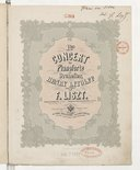 Erstes Concert für Pianoforte und Orchester : Henry Litolff zugeeignet / von F. Liszt ; Solopartie m. Bgltg. eines zweiten Pianoforte
