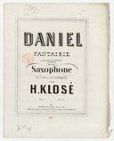Daniel, d'après E. Depas. Fantaisie dramatique pour saxophone [alto mi ♭] et piano concertants
