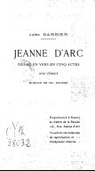 Jeanne d'Arc, drame en cinq actes, avec choeurs, musique de Ch. Gounod