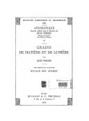 Grains de matière et de lumière. 3, Noyaux des atomes / par Jean Perrin