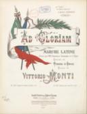 Ad Gloriam ! Marche latine..., paroles de Pierre d' Amor, musique de Vittorio Monti