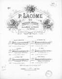 """Chant nuptial tiré du """"Cantique des cantiques."""" Paraphrase française de l'auteur, accompagnement de grand orgue P. Lacome"""