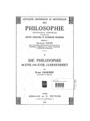 Die Philosophie im XVII und XVIII Jahrhundert [1937-1938] / von Ernst Cassirer,...