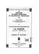 """Les conceptions modernes de la raison : Entretiens d'été. Amersfoort 1938.  Marcel Barzin """"Langage et réalité"""""""