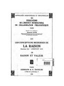 """Les conceptions modernes de la raison : Entretiens d'été. Amersfoort 1938.  Gaston Bachelard """"Psychologie de la raison""""]2, Raison et histoire [Eugène Dupréel : """"L'histoire des idées est-elle déterminée par des catégories..."""
