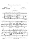 Rondels pour après, cinq mélodies. Poésies de Tristan Corbière. Chant et piano
