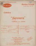 "Rimpianto, célèbre ""Serenata"". Veral di Alfredo Silvestri. A. En mi majeur. Chant et piano"