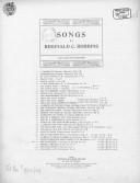 Ode to Psyche, épilogue, (J. Keats). Chant et piano