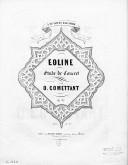 Eoline : étude de concert [pour piano] : op. 37 / par O. Commettant