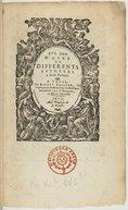 XVI. Livre d'Airs de differents autheurs à deux parties