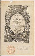 V. livre d'airs de differents autheurs, à deux parties