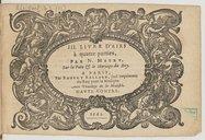 III. Livre d'airs à quatre parties, par N. Metru, sur la Paix & le mariage du Roy