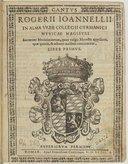 Rogerii Joannellii Sacrarum modulationum, quas vulgo motecta appellant quae quinis et octonis vocibus concinuntur liber primus