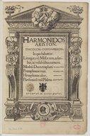 Harmonidos Ariston. Tricolon, Ogdoameron. In quo habentur liturgiae, vel missae tres, celeribus ac volubilibus numeris...