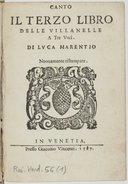 Il terzo libro delle villanelle a tre voci... Novamente ristampate