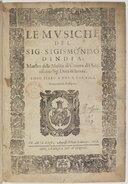Le musiche del Sig. Sigismondo d'India,... libro terzo a una e due voci, nuovamente stampate