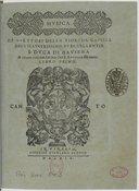 Musica de' virtuosi della florida cappella dell'illustrissimo et eccellentis. S. Duca di Baviera a cinque voci, con le rime del S. Antonio Minturno. Libro primo