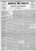 Le Journal des Débats politiques et littéraires - 1885-01-07