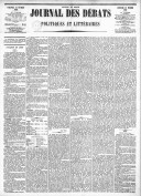 Le Journal des Débats politiques et littéraires - 1885-02-22
